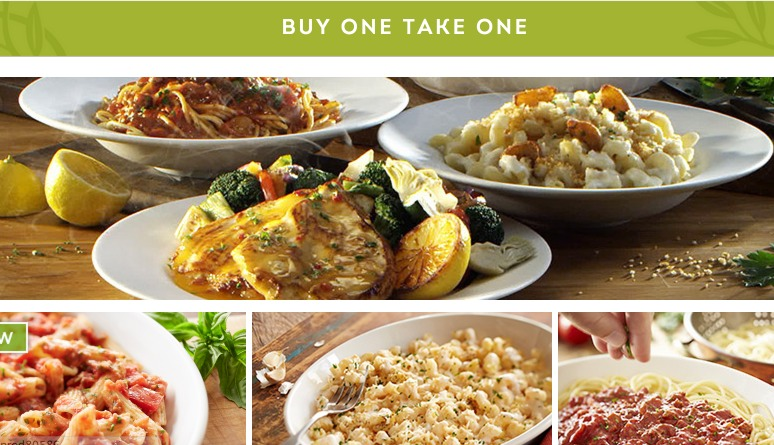 Olive Garden Buy 1 Entree Take 1 Home For Free