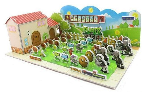 Amazon 3d Diy Plants Vs Zombies Jigsaw Puzzle Only 8 50