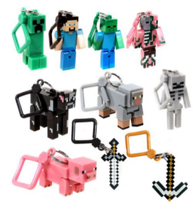 Minecraft-Toy-Action-Figure-Keychain-10pc-Set-A-Thrifty-Mom