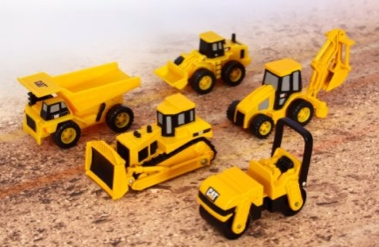 Toystate-Caterpillar-Construction-Mini-Machine-5-Pack