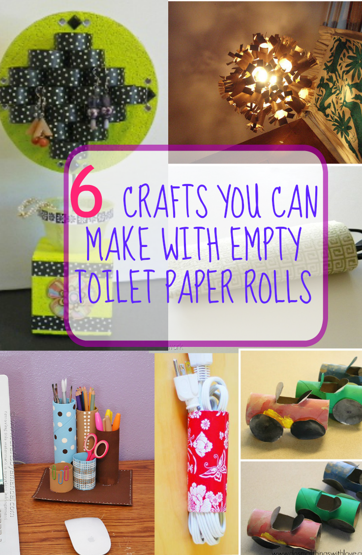 6 crafts you can make with empty toilet paper rolls for Things to do with empty toilet paper rolls
