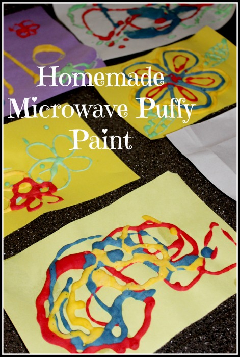 Fun things for kids to do 4 homemade puffy paint for Cool things to paint