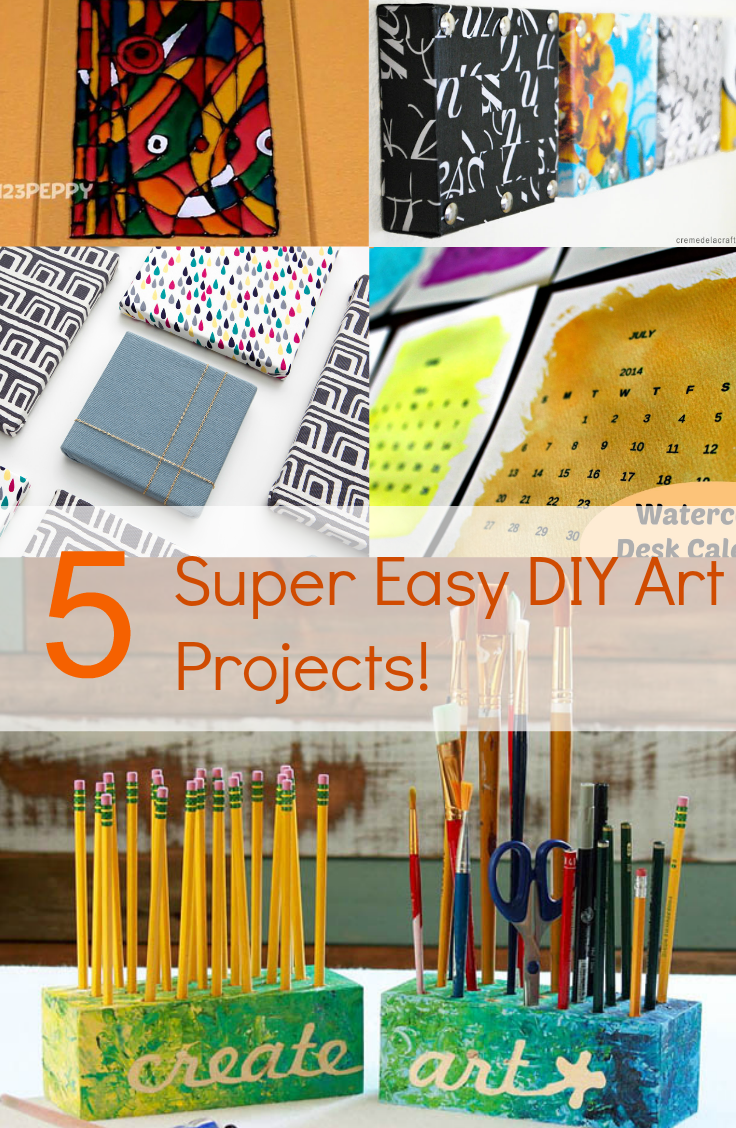 diy art projects 5 easy diy projects discountqueens 31183